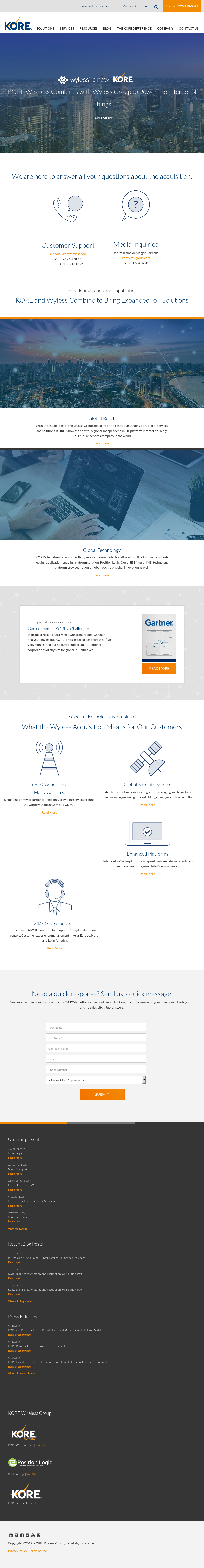 Owler Reports - Press Release: Wyless : KORE Wireless Group ...