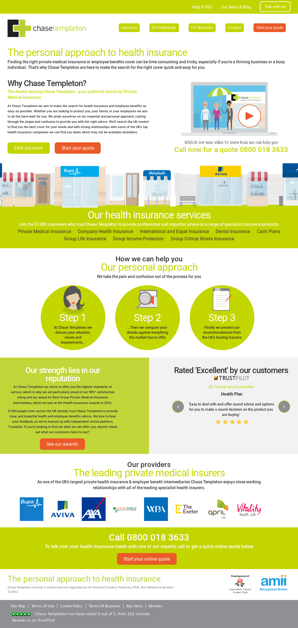 Insurance company CSG: feedback from employees and customers 37