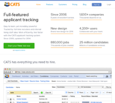 CATS Software website history