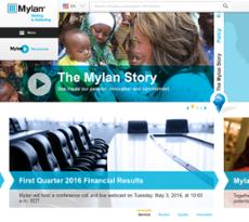 Mylan website history