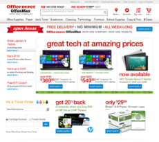Office Depot website history