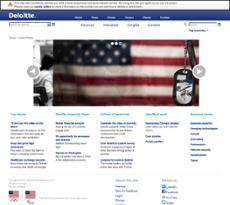 Deloitte website history
