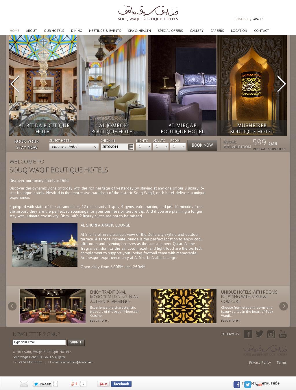 Souq Waqif Boutique Hotels Competitors, Revenue and