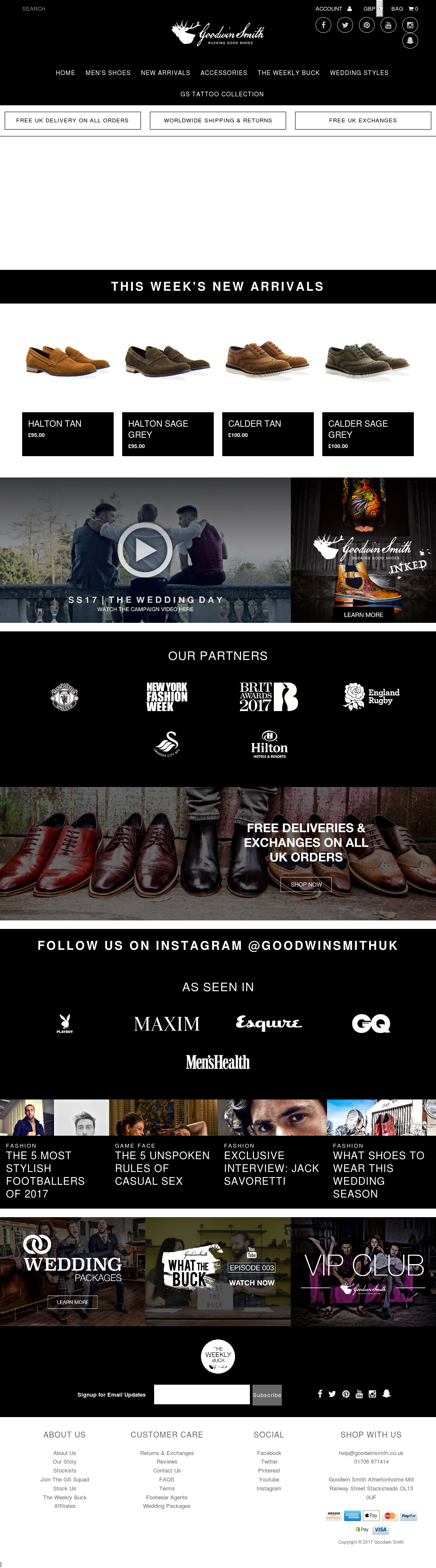Goodwinsmith Website History