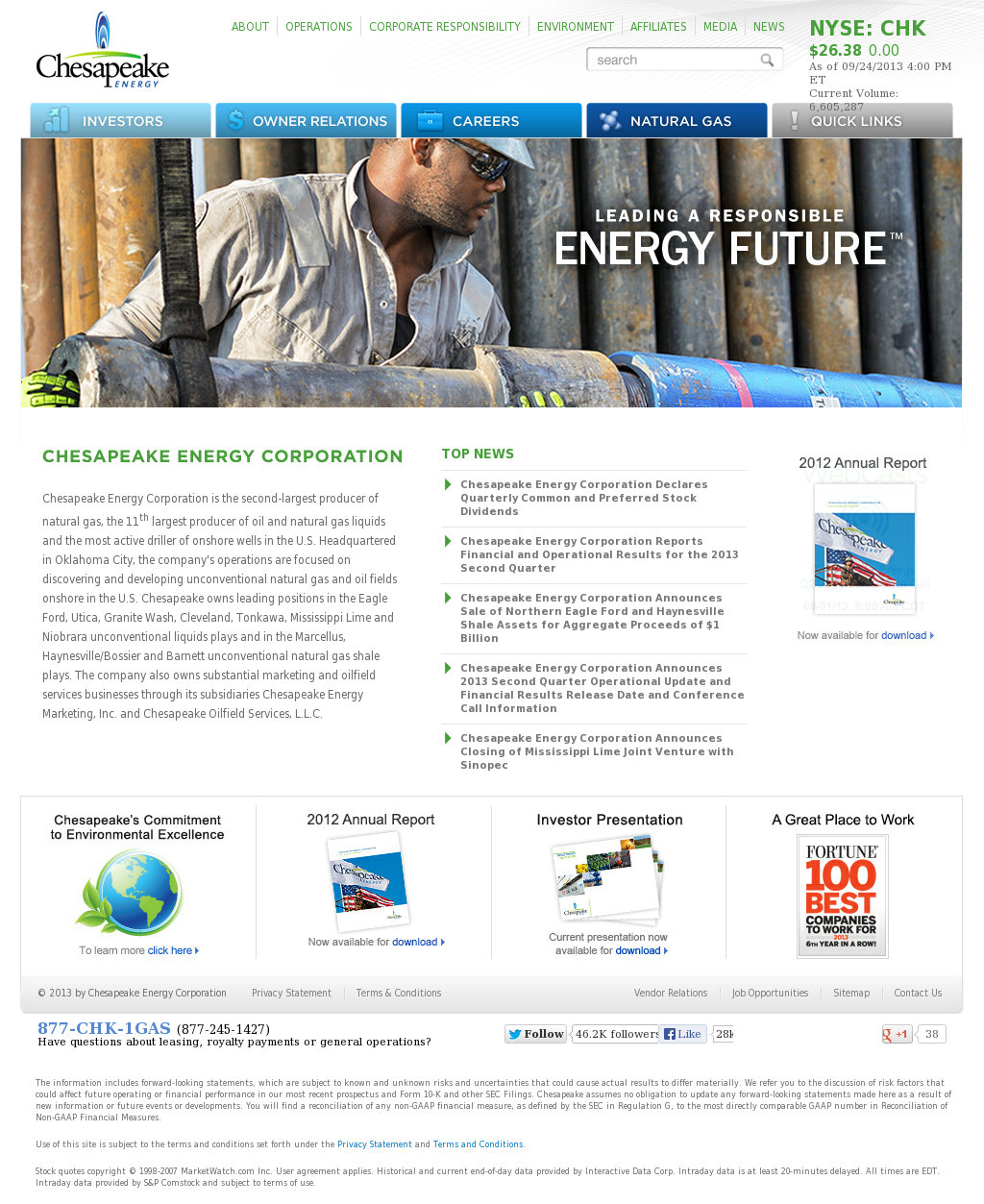 a profile overview of the chesapeake energy corporation American energy partners, lp, also known as aelp, was an american natural gas and oil company founded in april 2013 by aubrey k  chesapeake energy corporation.