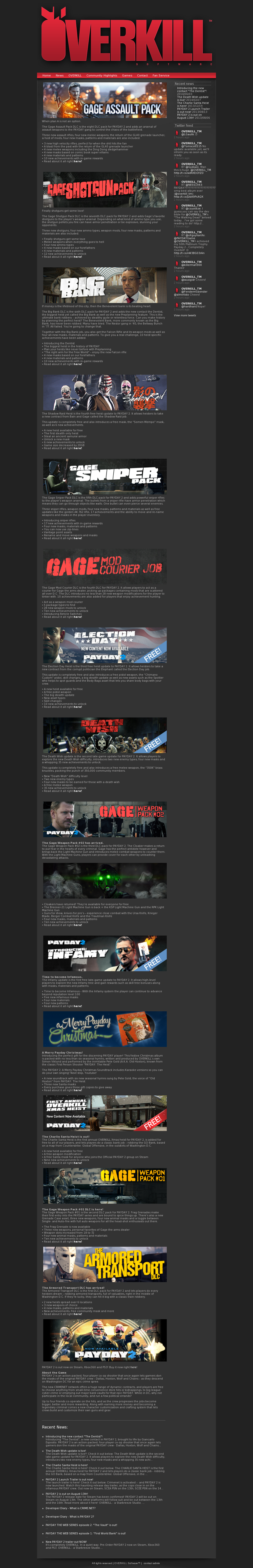 Owler Reports - OVERKILL Software: Payday 2 is responsible for 62