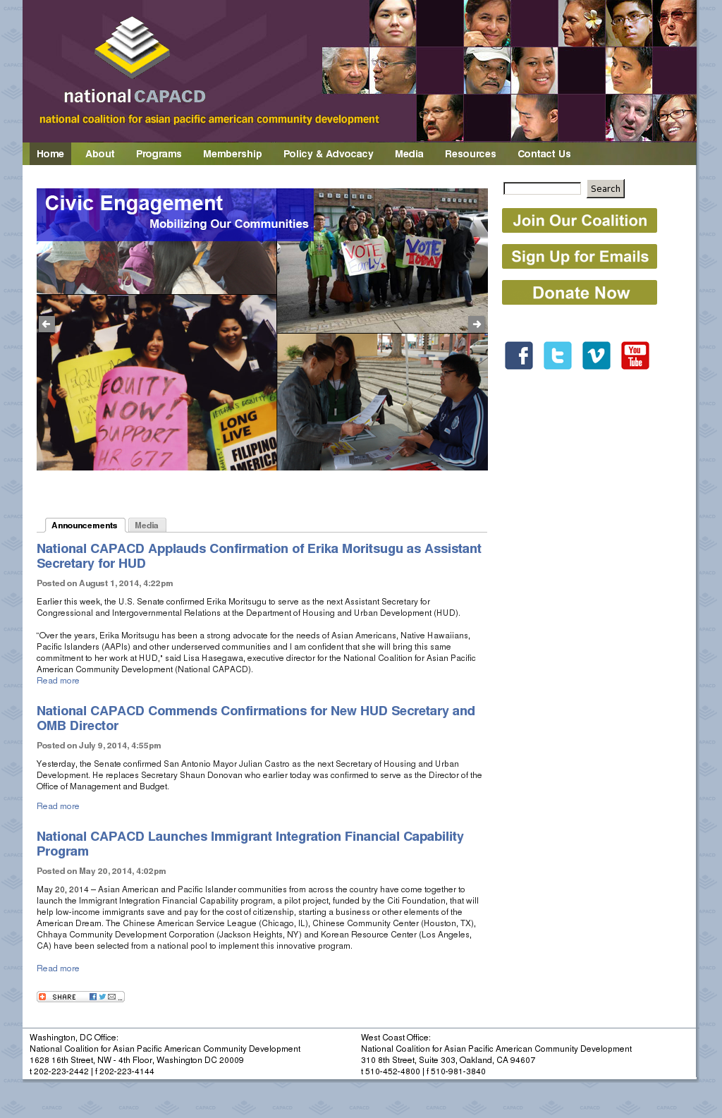 National coalition for asian pacific american community development