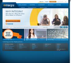 Integra Telecom website history
