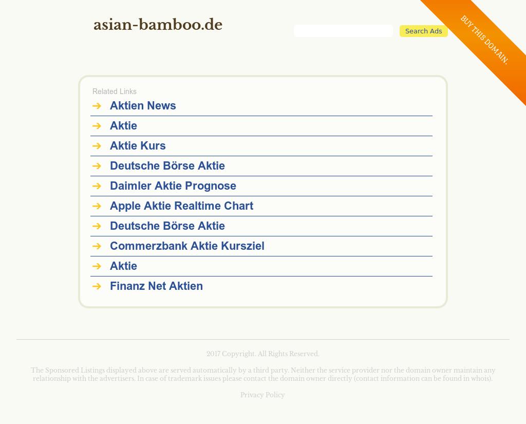 Aktie Asian Bamboo