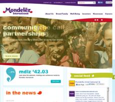 Mondelez International website history