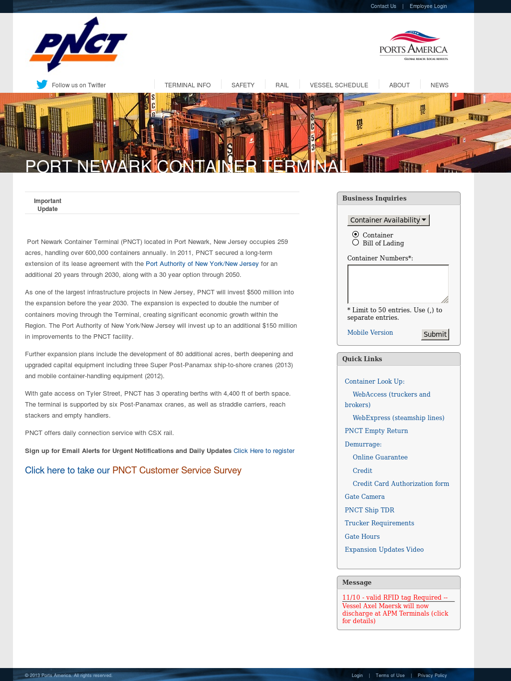 Port Newark Container Terminal Competitors, Revenue and Employees