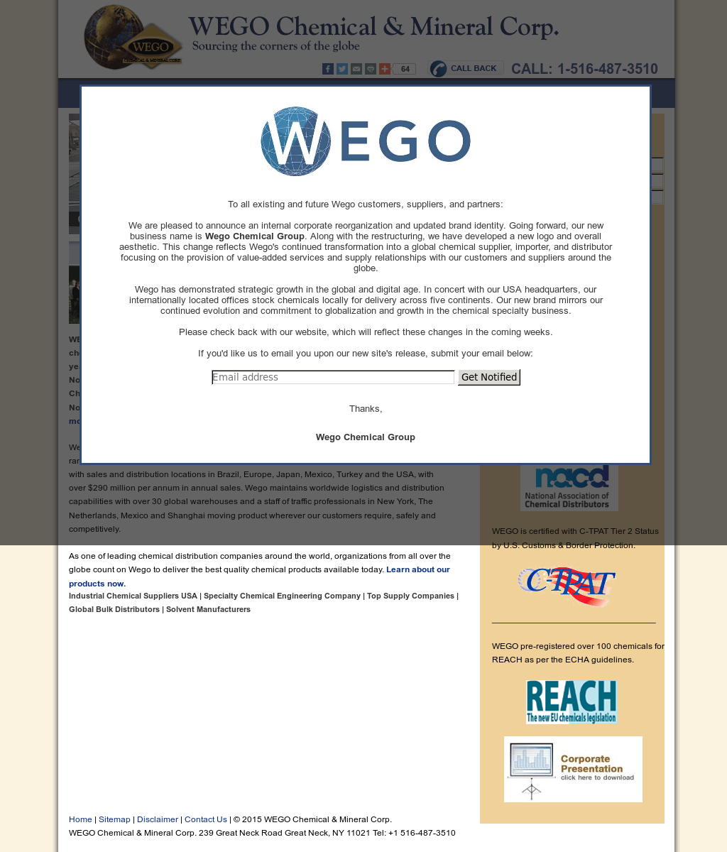 WEGO Chemical & Mineral Competitors, Revenue and Employees