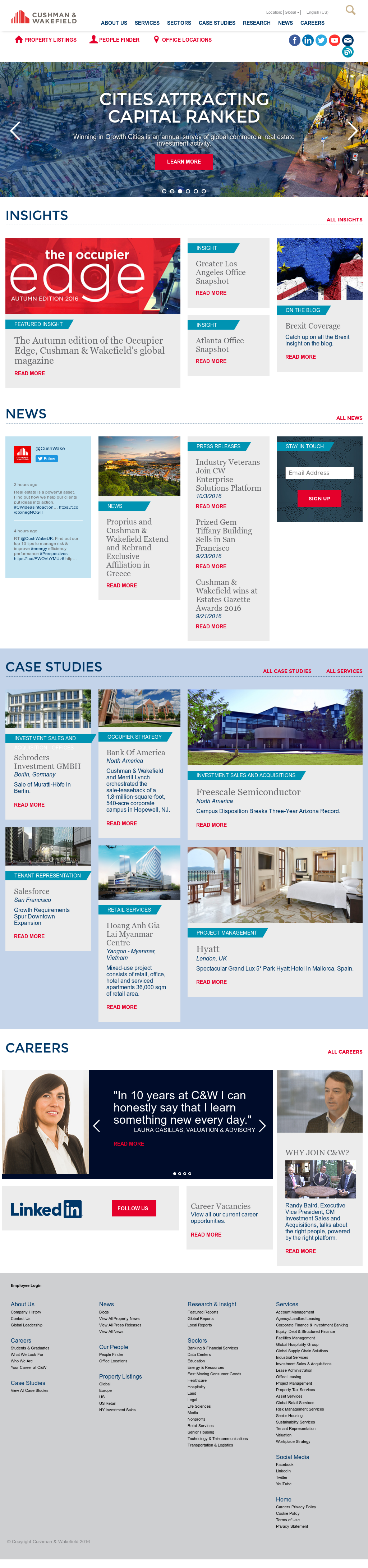 Cushman & Wakefield Competitors, Revenue and Employees