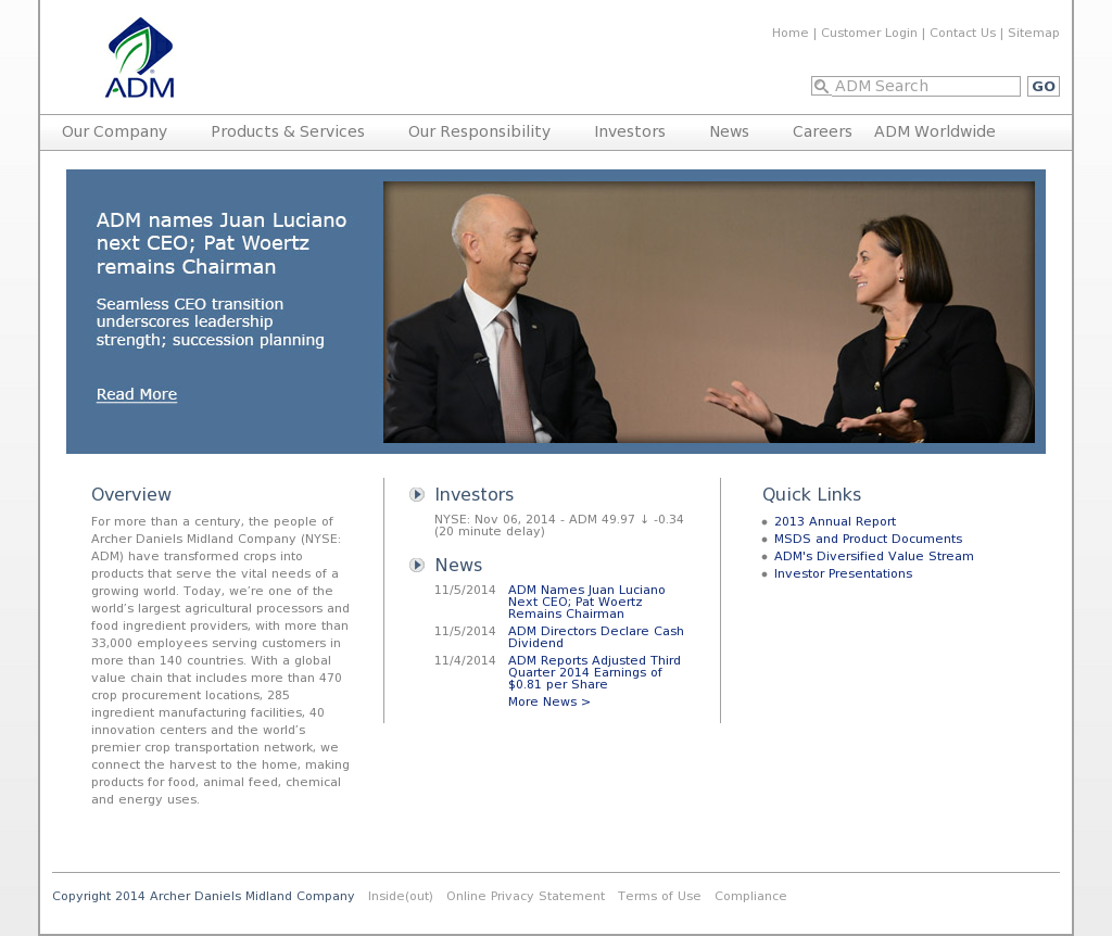 ADM Competitors, Revenue and Employees - Owler Company Profile