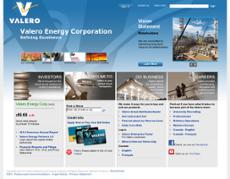 Valero website history
