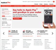 KeyBank website history