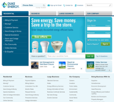 Duke Energy website history