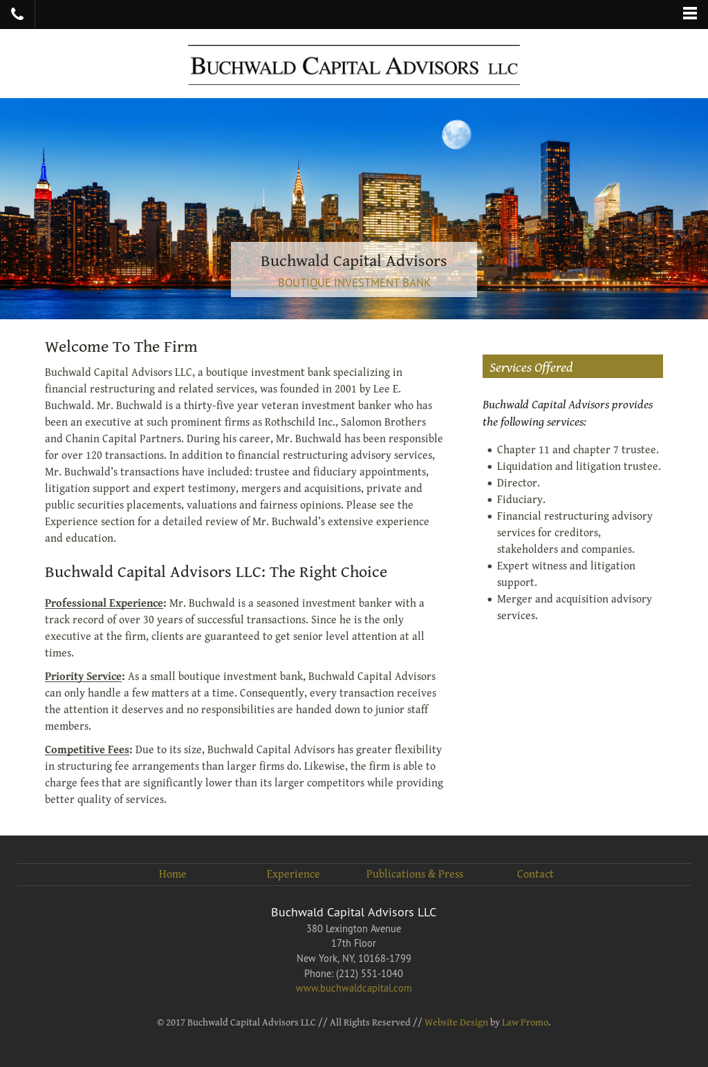 Buchwald Capital Advisors Competitors, Revenue and Employees - Owler