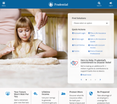 Prudential Financial website history
