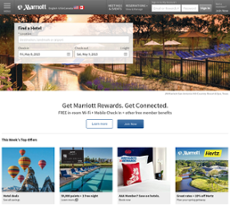 Marriott website history