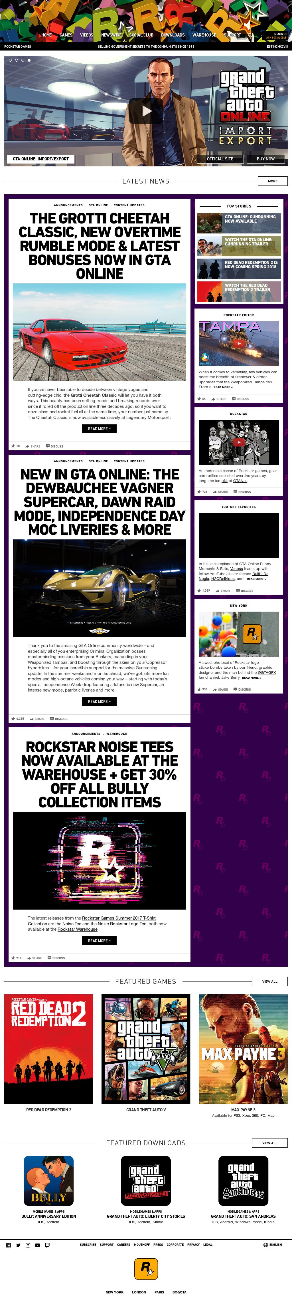 rockstar games warehouse phone number