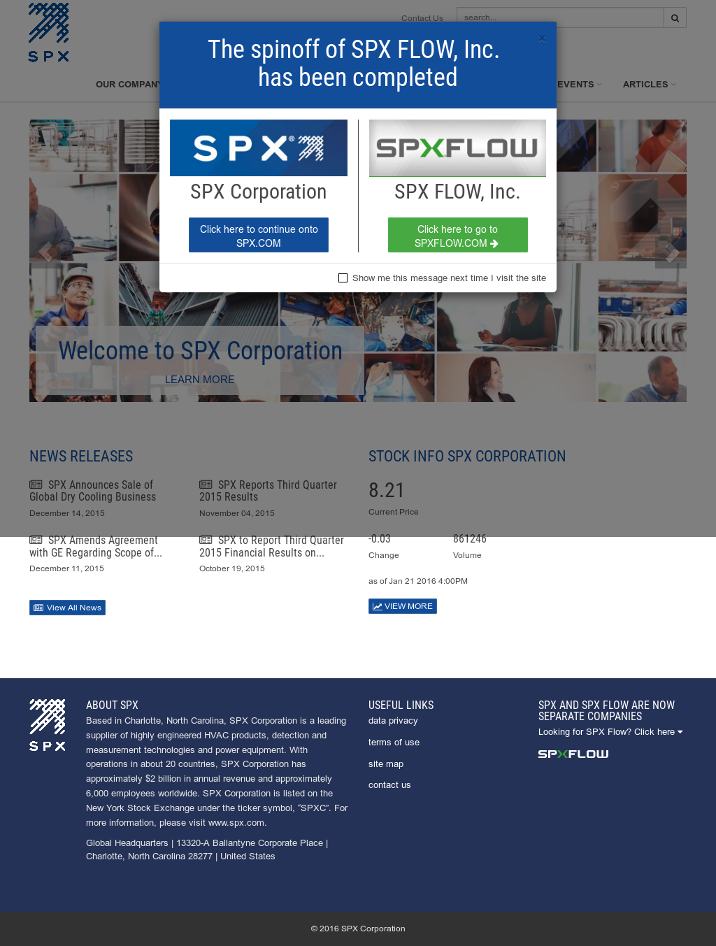 Spx competitors revenue and employees company profile on owler spx website history biocorpaavc Images