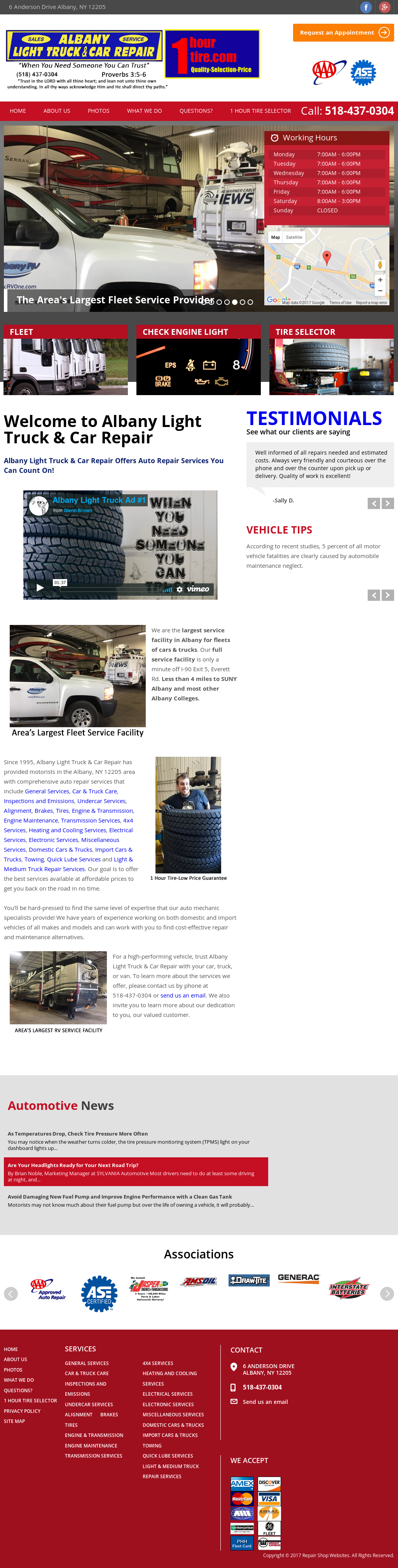 Good Albany Light Truck Repair Website History Awesome Design