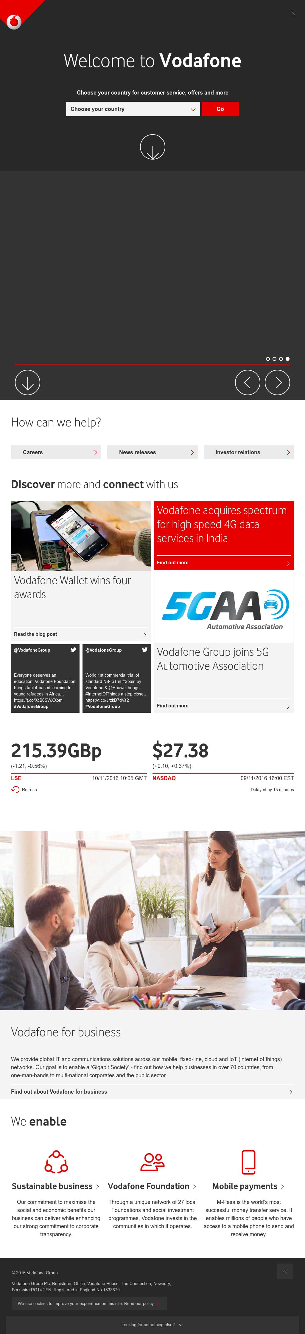 vodafone competitors analysis