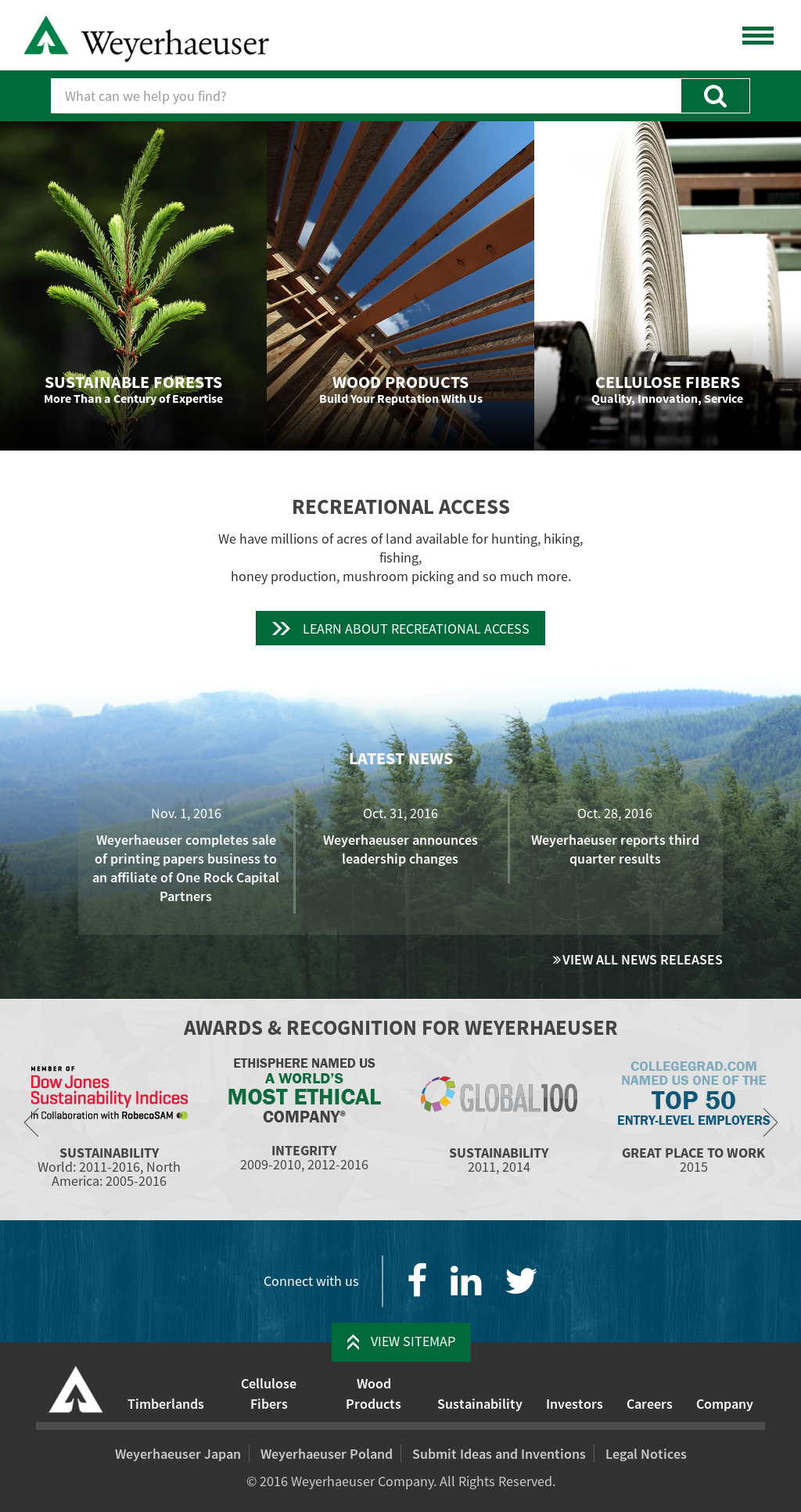 Weyerhaeuser Competitors, Revenue and Employees - Owler Company Profile