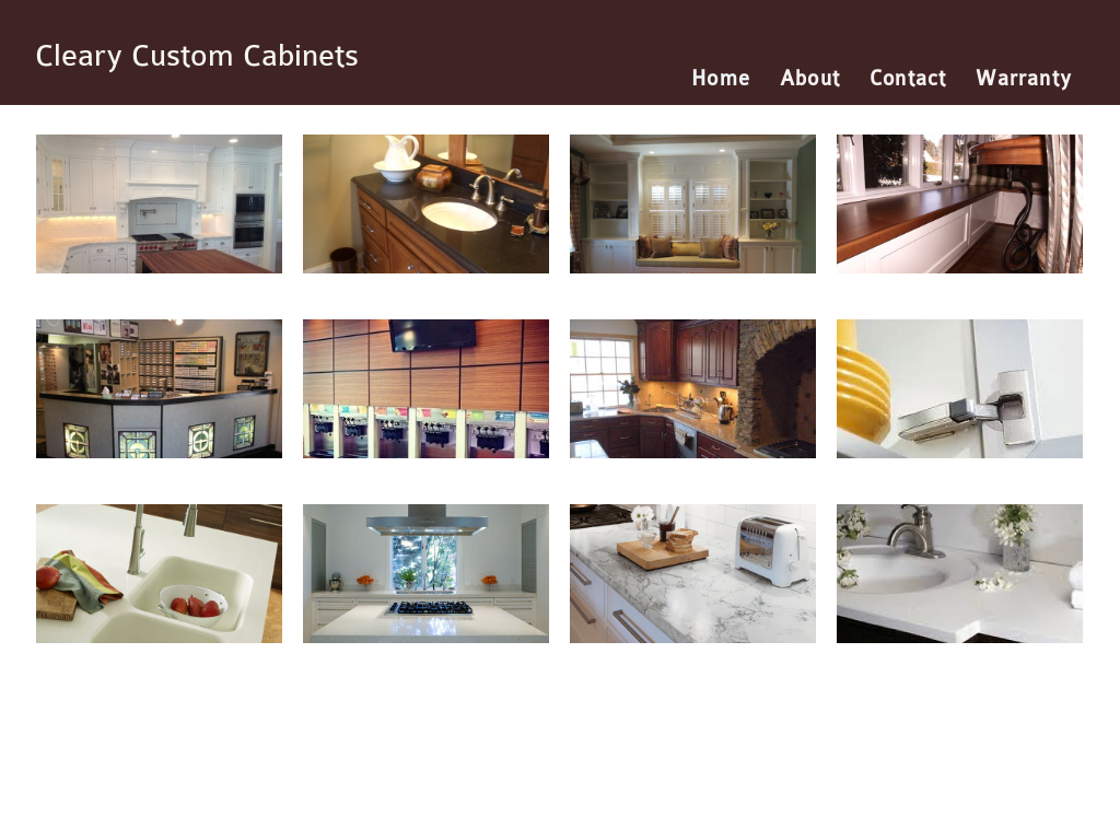 Exceptionnel Cleary Custom Cabinets Website History
