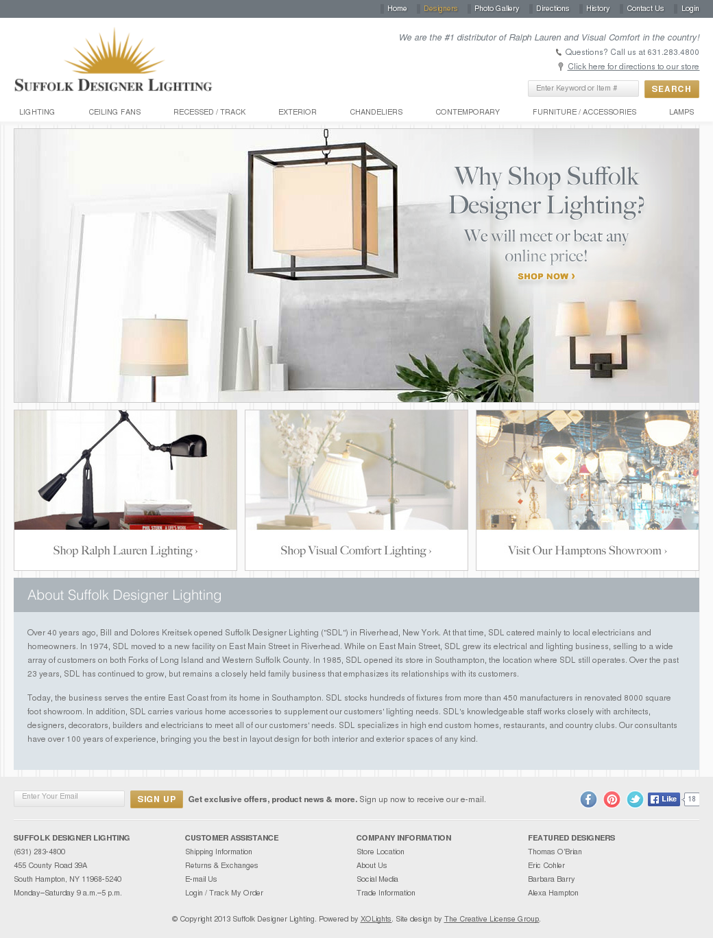 Suffolk Designer Lighting Compeors Revenue And Employees