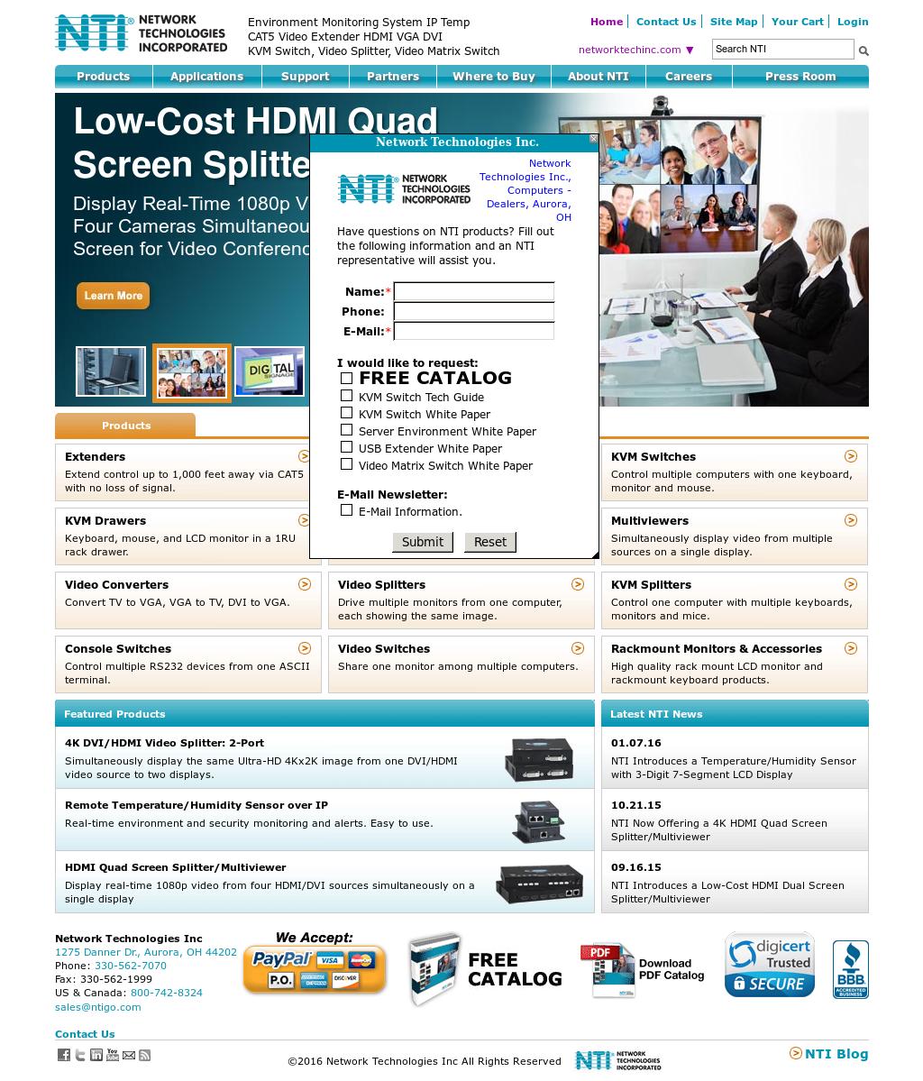 Owler Reports - Press Release: NTI : NTI Now Offering a 4K HDMI