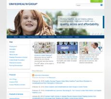 UnitedHealth Group website history