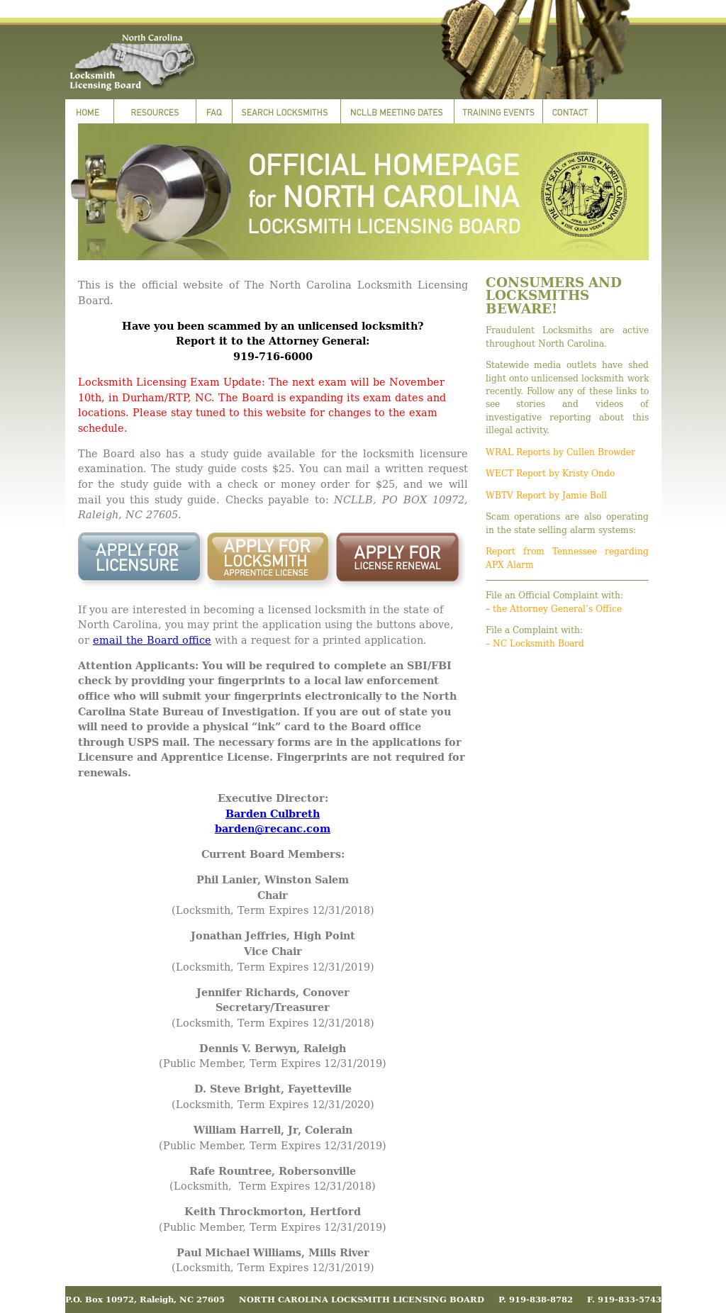 North Carolina Locksmith Licensing Board Competitors, Revenue and