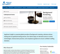 Applicant Insight website history