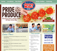 Jersey Mike's website history