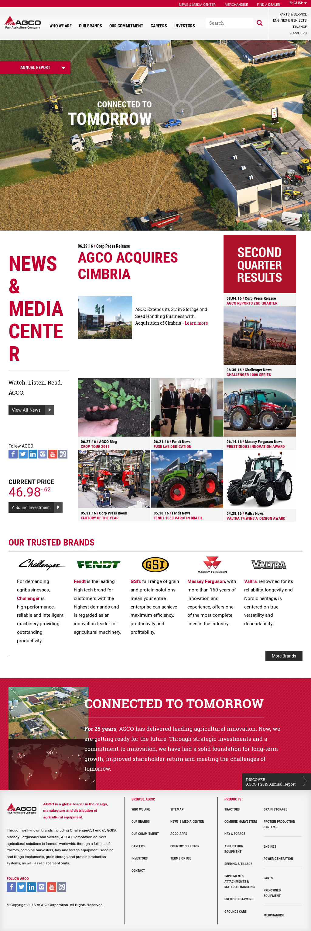 AGCO Competitors, Revenue and Employees - Owler Company Profile