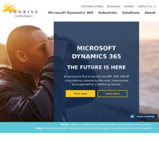 Sunrise Technologies website history