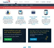 Capital One website history