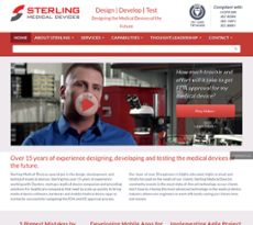 Sterling Medical Devices website history