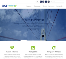 OSF Global Services website history