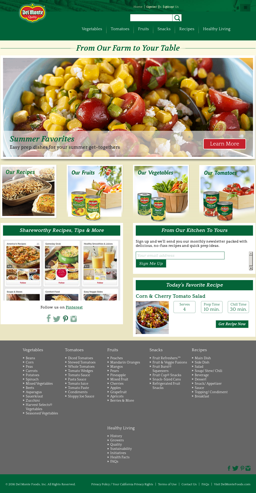 Del monte foods competitors revenue and employees owler for Del website