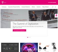 Deutsche Telekom website history