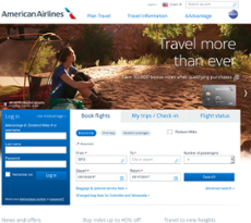 American Airlines website history
