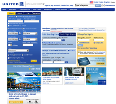 United Airlines website history