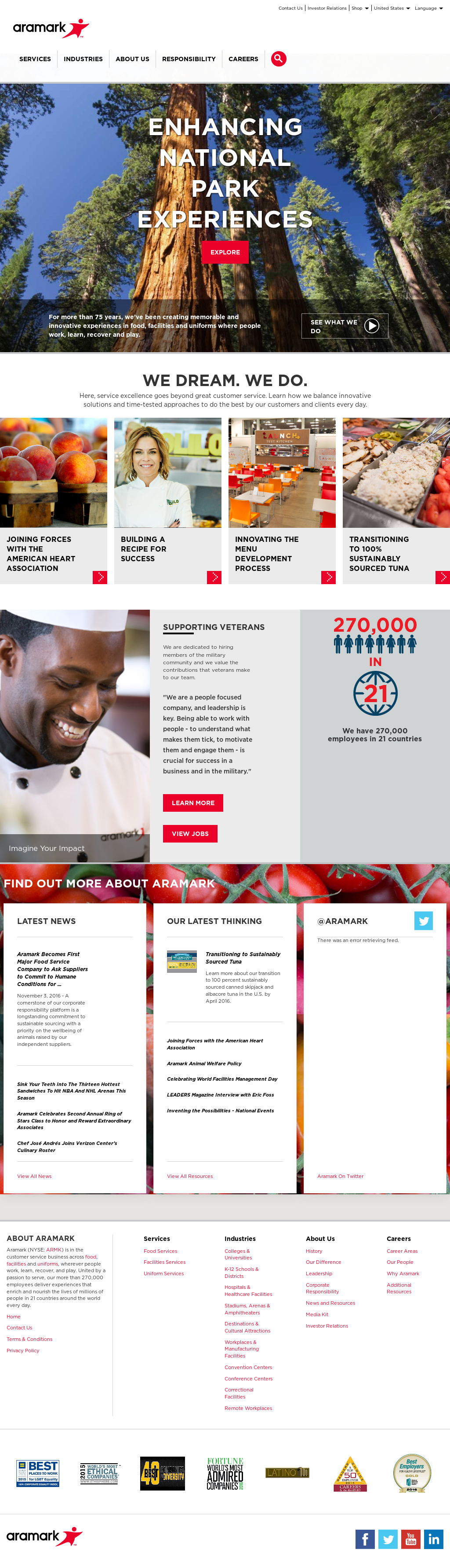 Aramark Competitors, Revenue and Employees - Owler Company
