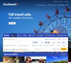 Southwest Airlines website history