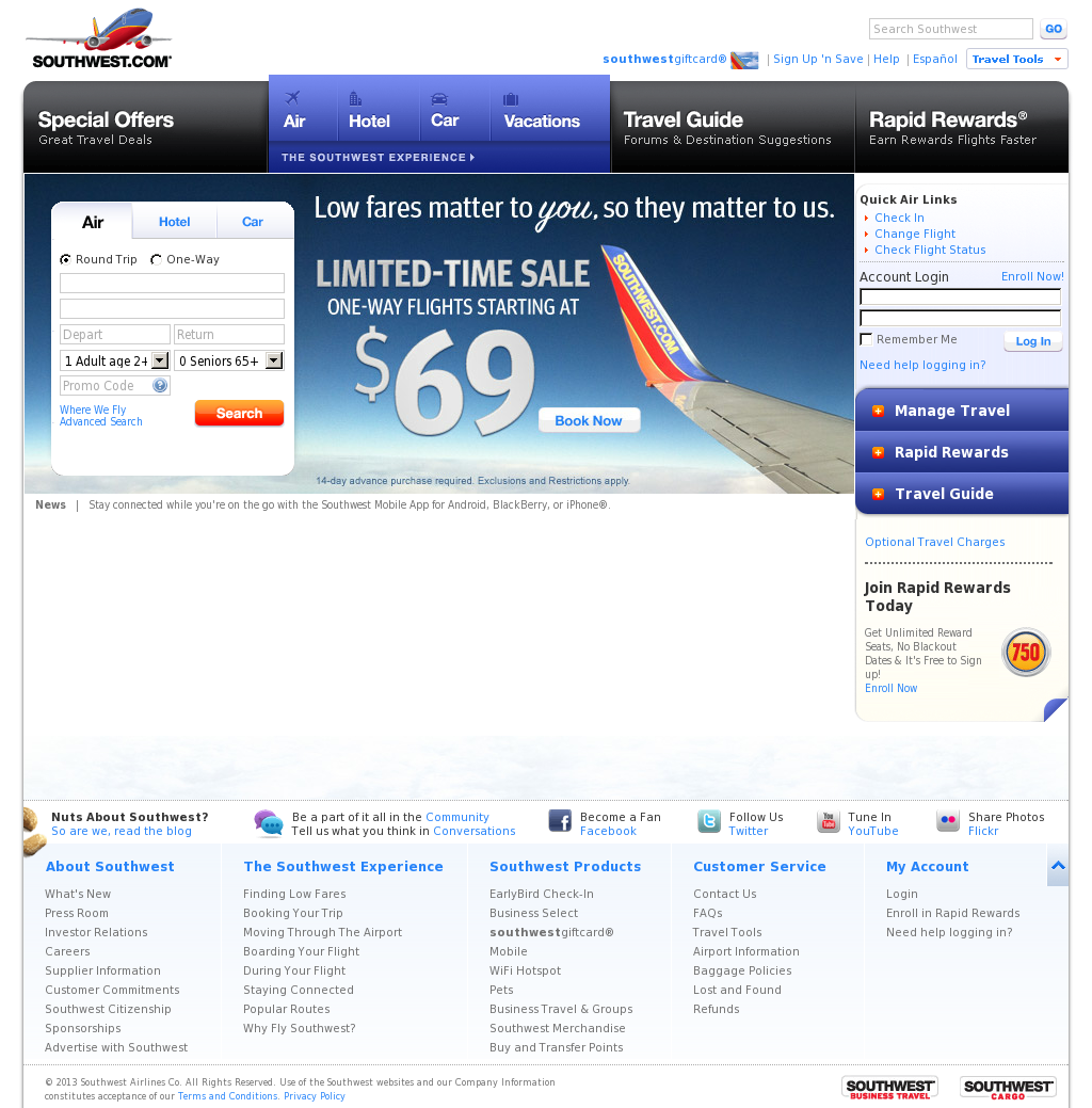 Southwest Airlines Competitors, Revenue and Employees - Owler ...