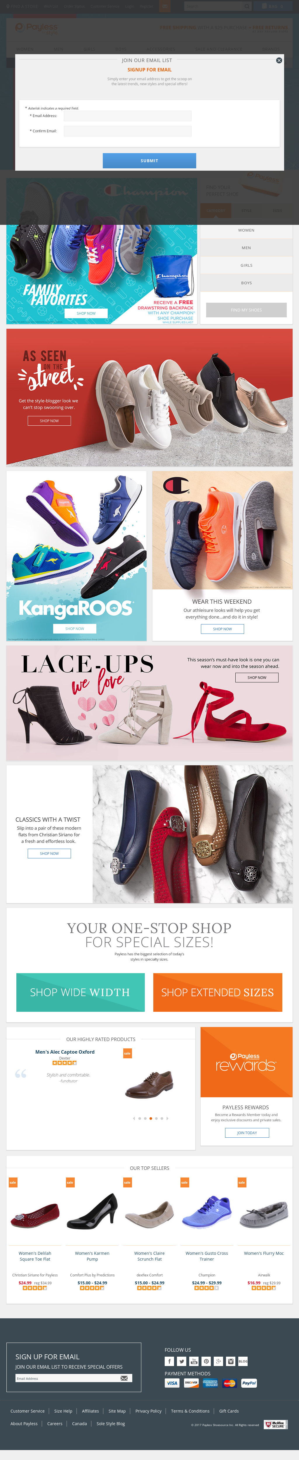 f6d058e5d Payless Shoe source Competitors