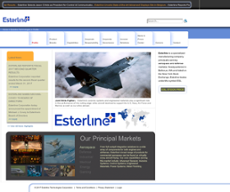 Esterline website history